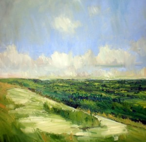 Mayes_Emerson 'From the White Horse' oil on panel, 60x60cm (High Res)