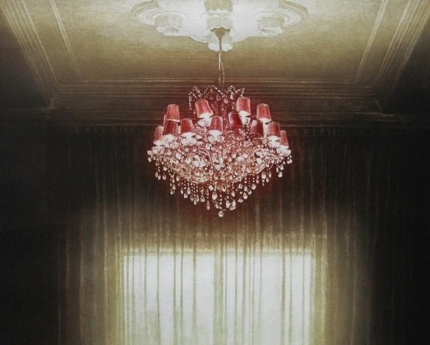 Anja Percival - 'Interior Light VI' Etching (wax resist on aquatint), 40x40cm, Edition - 28 of 50, 2011 (Low Res)