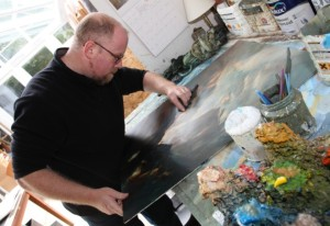 James at work in his studio