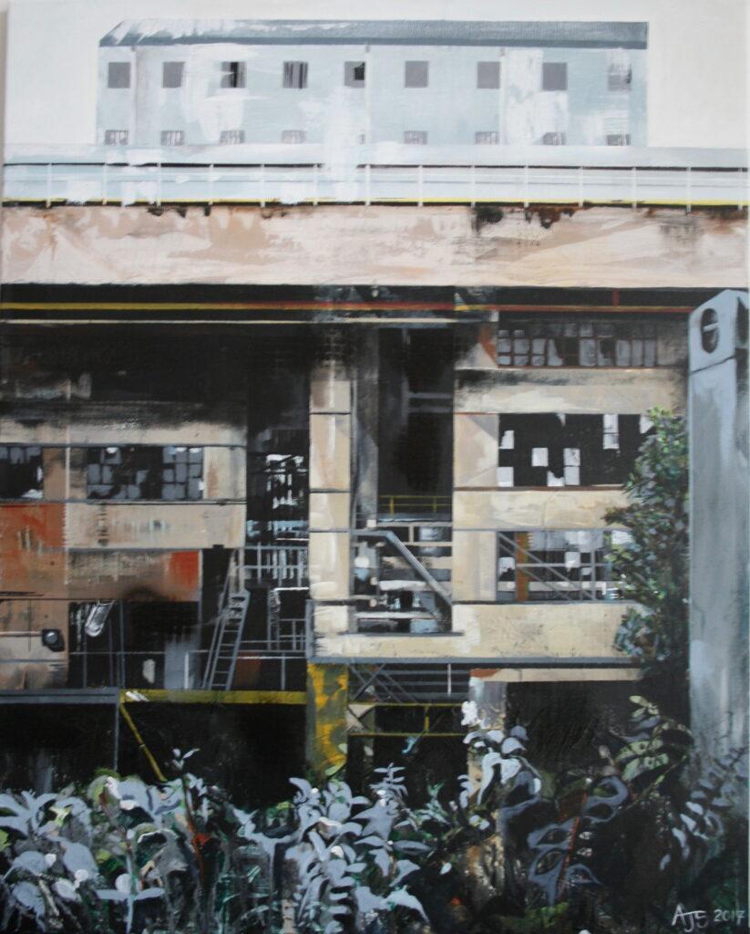 Andrea Sadler, Soda Ash, 75x60cm, Acrylic and spray paint on canvasLR