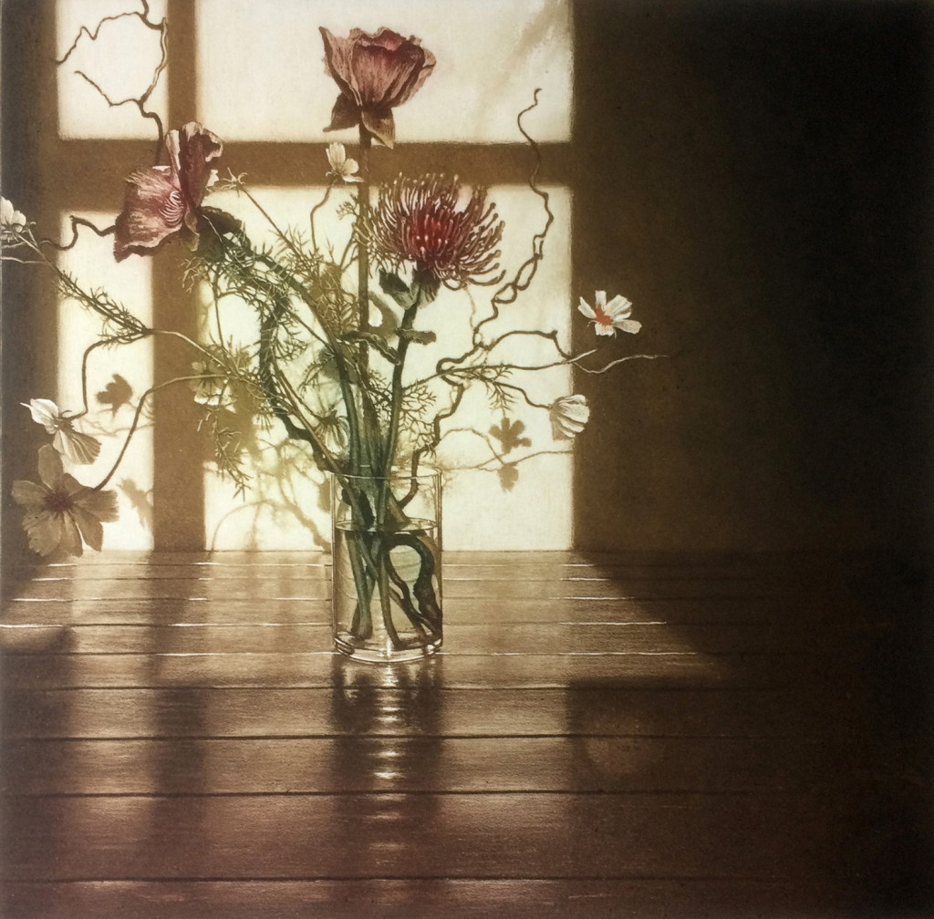 Anja Percival, Window Light XV, 50x50cm, Etching on copperLR