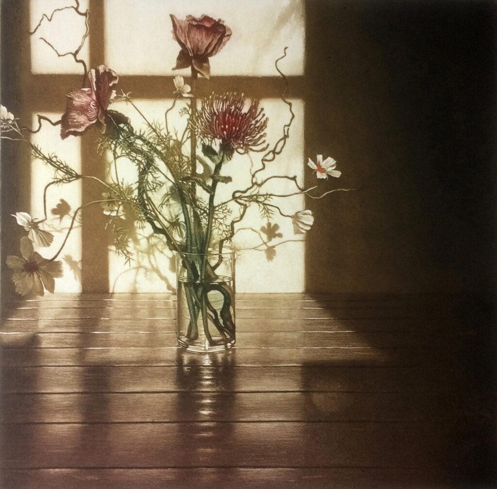 Anja Percival, Window Light XV, 50x50cm, Etching on copperLR