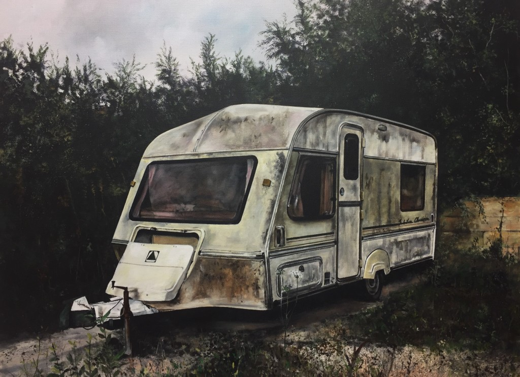 Christopher Campbell, Caravan of Love, 55x75cm, Oil on linen