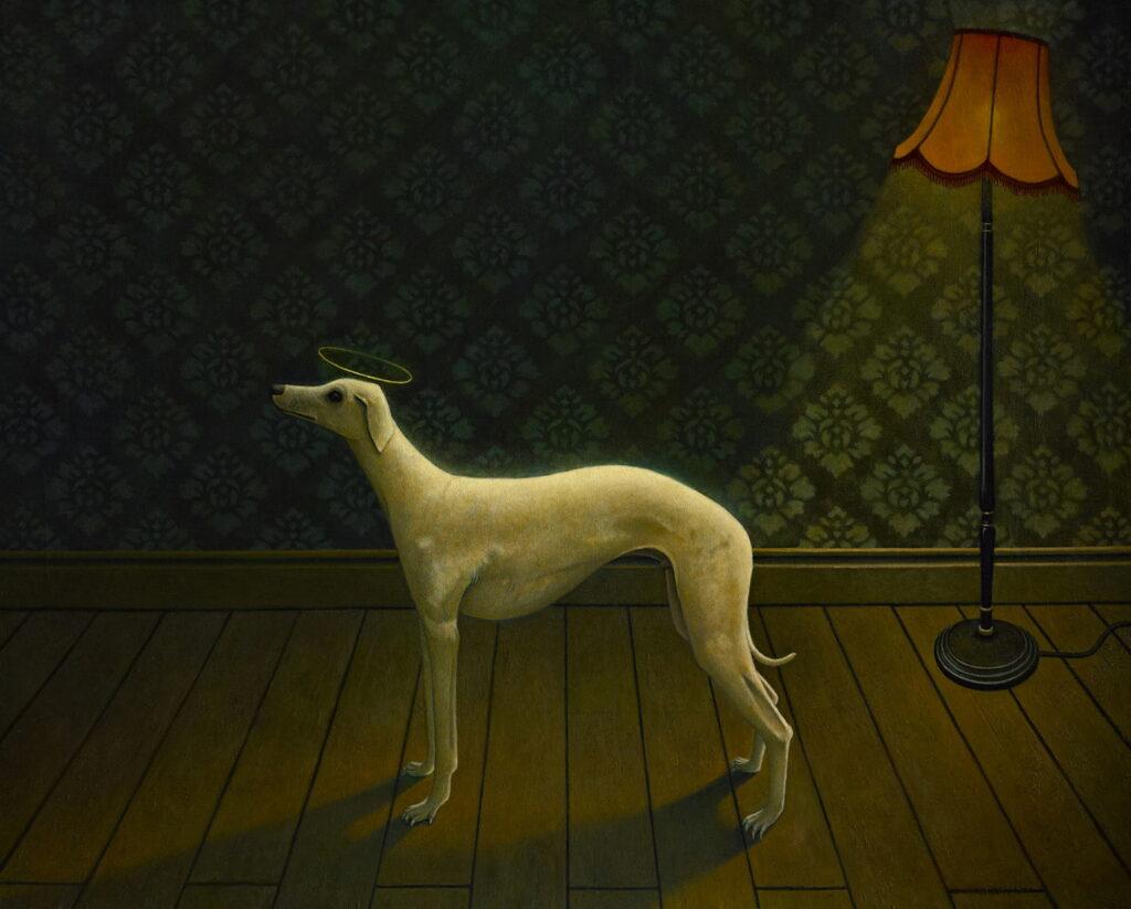 Gavin Watson, Waiting For Dogot, 81x101cm, Oil on CanvasLR