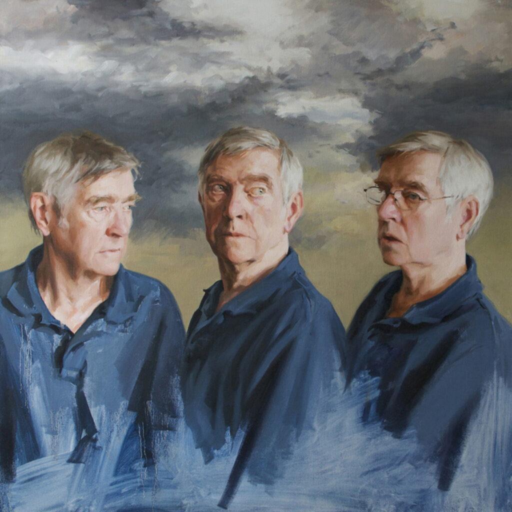 Isobel Peachey, Sir Tom Courtenay, 91x91cm, Oil on canvasLR