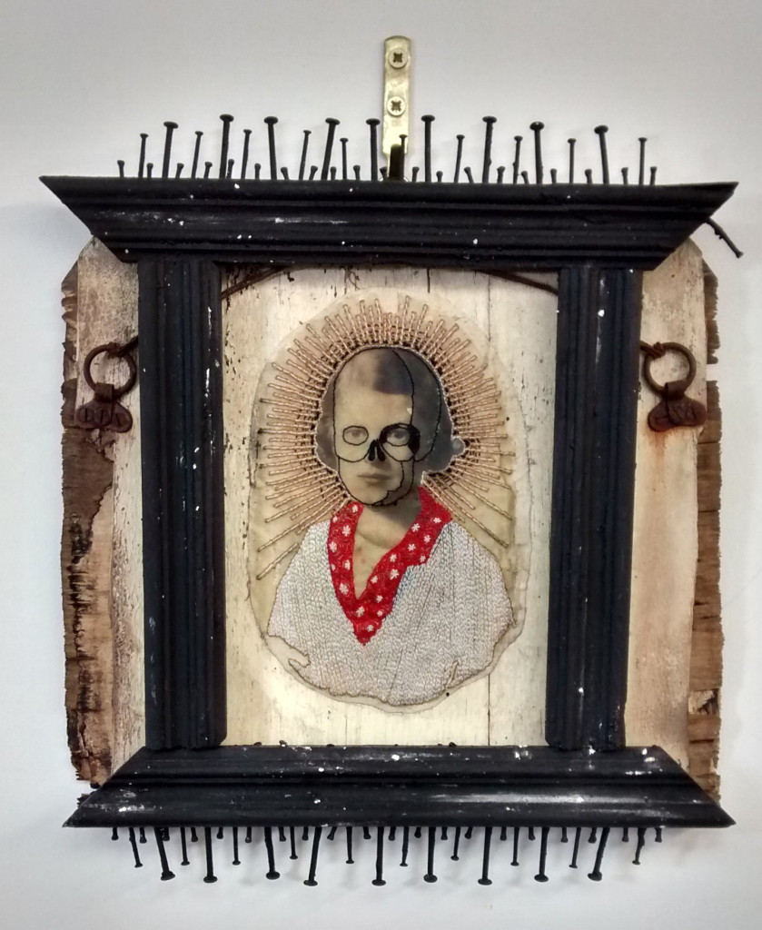 Jax Temple-Smees (Rejectamental), GirlWoman, 31x27cm, Mixed media assemblageLR