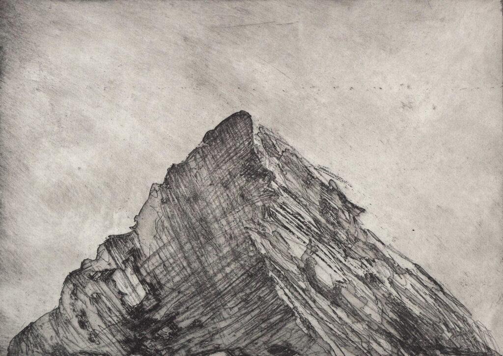 Kathryn Desforges, Peak I, 56x76cm, Etching