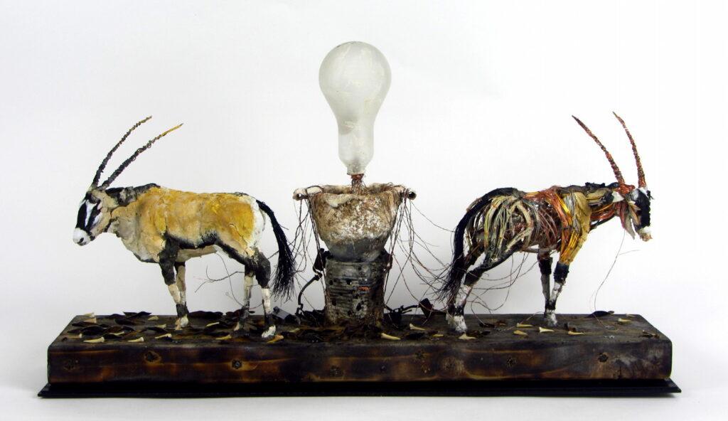 Mark Gibbs, Dark Energy Machine, 50x72cm, Mixed media sculptureLR