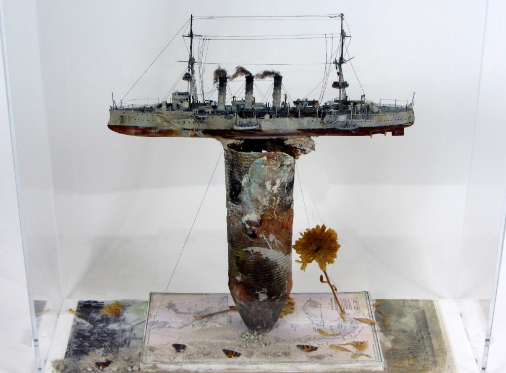 Mark Gibbs, Dresden at Cumberland Bay, 54x53cm, Mixed Media Sculpture