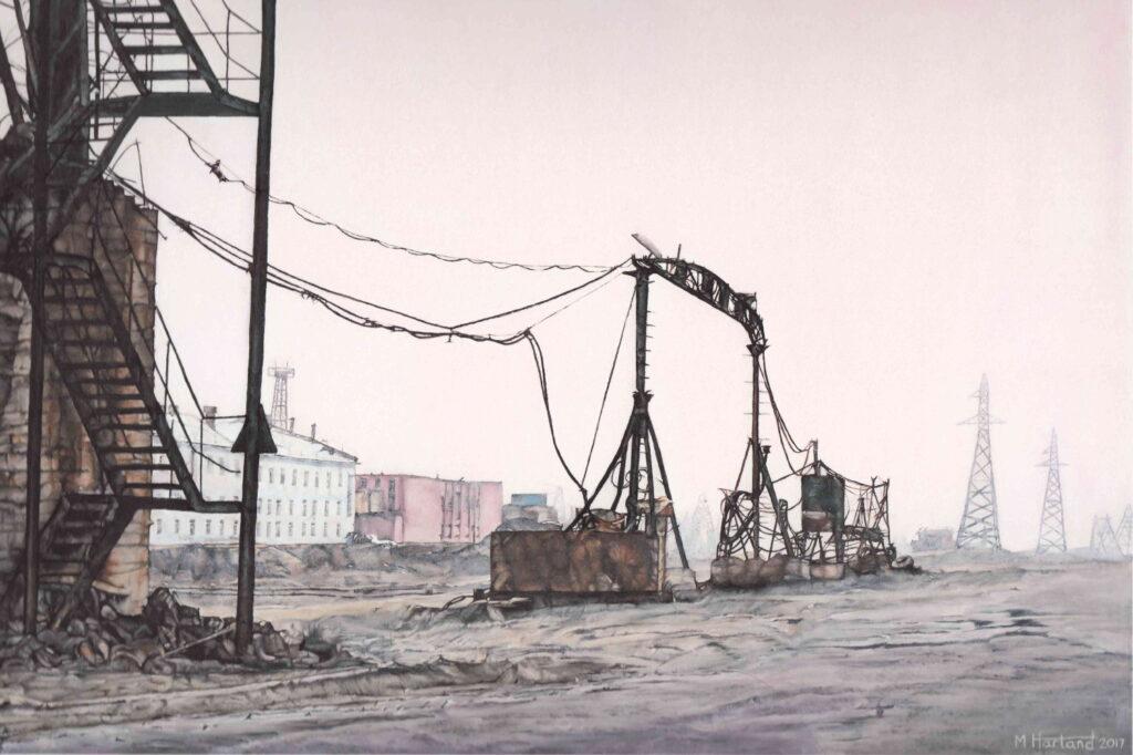 Melise Harland, Norilsk, 50x76cm, Oil on board