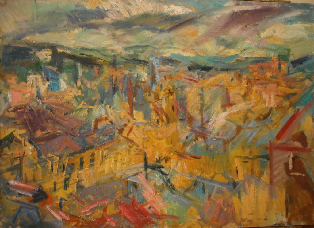 Miranda Richmond, Looking over Bradford, 77x107cm, Oil on canvas