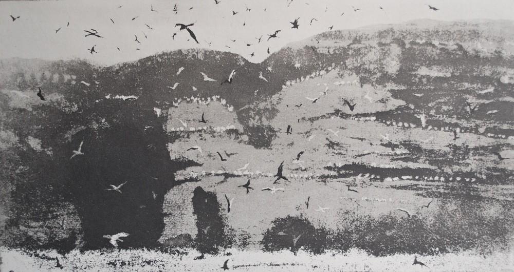 Norman Ackroyd, Crab Rocks, 15x29cm, Etching