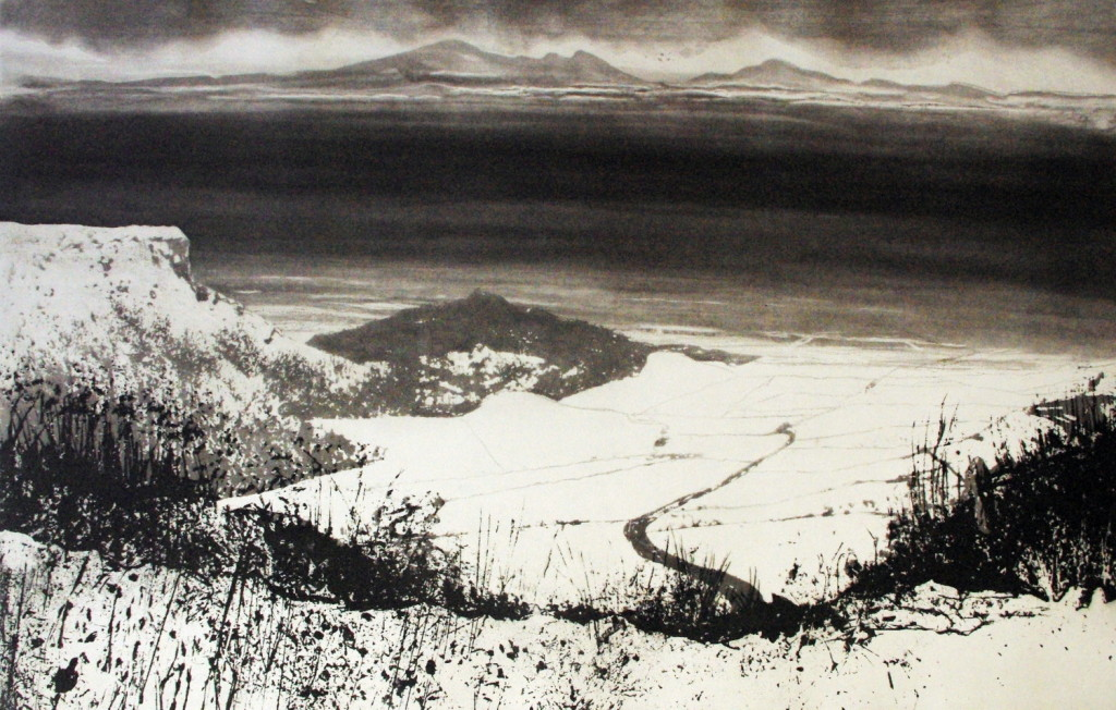 Norman Ackroyd, From Sutton Bank, 48x76cm, Etching