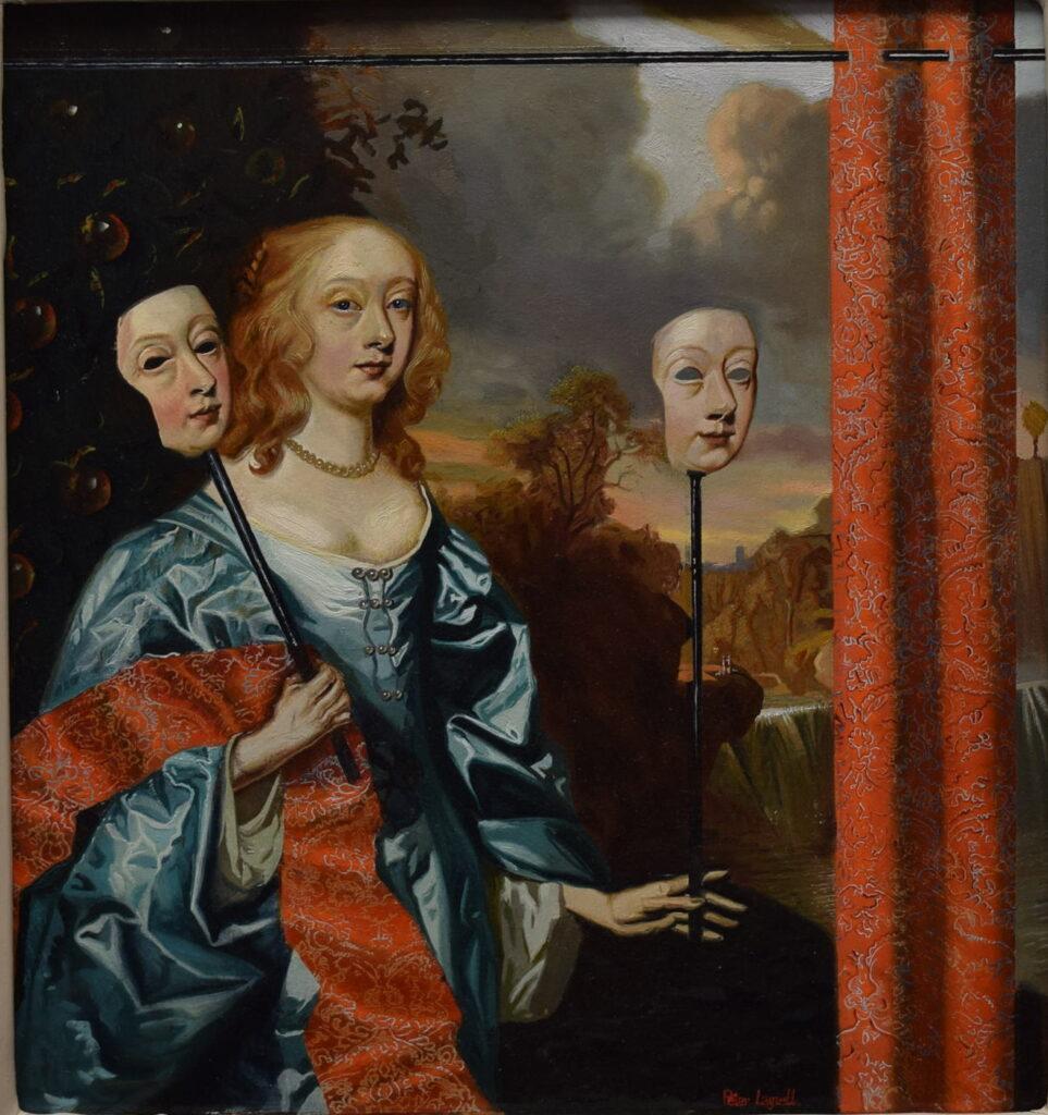Peter Layzell, Mummenschanz, 22x18cm, Oil on panel
