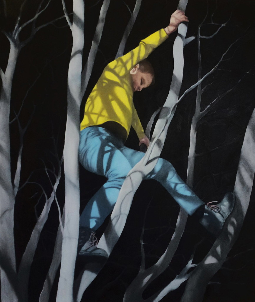 Teresa Lawler, Night Climb II, 72x64cm, Oil on Canvas