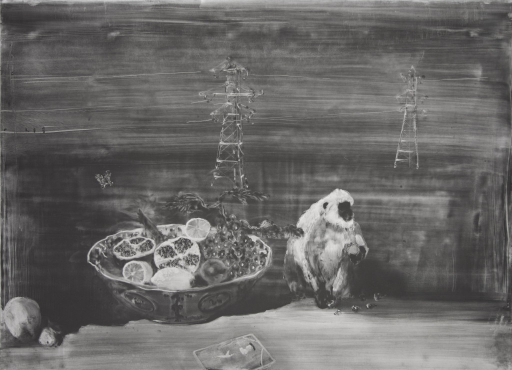 Forbidden Fruit, 72x102cm, Graphite on coated paper