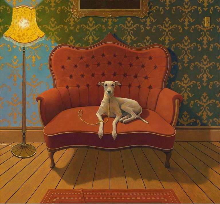 Gavin Watson_Lucky Jim_Oil on canvas_762x813mm