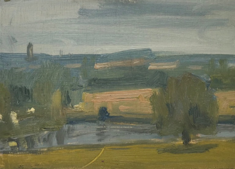 Josh Newsome, Towards Doncaster from Cusworth Hall, 15x18cm £495